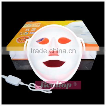 Photodynamic 3D facial color light LED mask vibration massage for home use skin rejuvenation LED beauty light mask