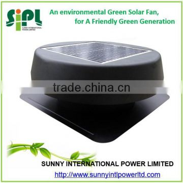 12 inch non-power roof air exhaust fan solar powered air vent fan
