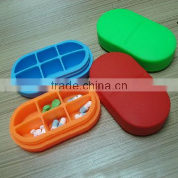 6 parts silicone pill box