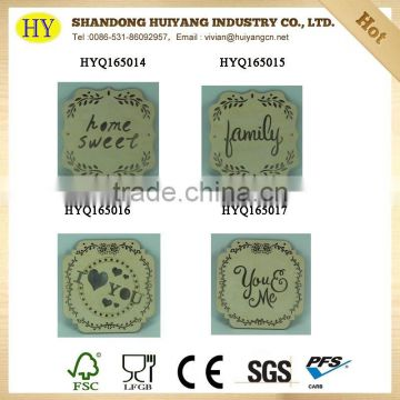 Engraved wood crafts home decoration