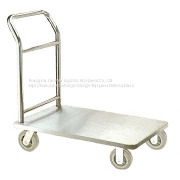 Stainless Steel Flatbed Handcart Heavy Duty Customized Color