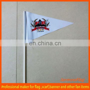 triangle hand held promotional flag