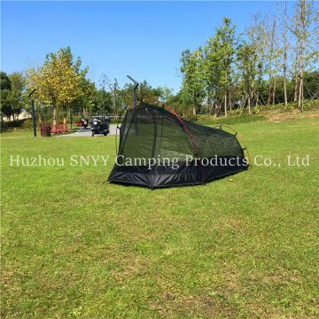 Single person compact lightweight double layer camping tent