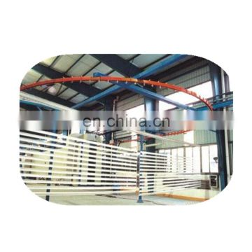 Advanced color powder coating line for doors and windows