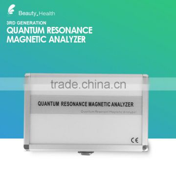 Different languages quantum resonance magnetic body analyser health machine