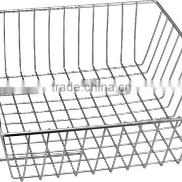 Iron material slatwall gridwall wire display basket