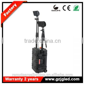 heavy duty rechargeable searchlight IP67 72w 4000lm mobile light tower rechargeable remote area led High Mast work light