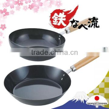 various types of easy to use tsubame iron frying pan made in japan
