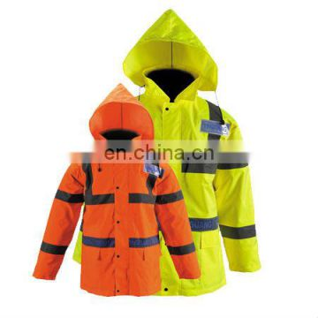 reflective work unifoem in workwear rain tacket