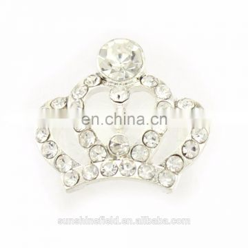 Fashion Style Alloy Rhinestone Tiara Clear Crystal for Accessories Silver Plating