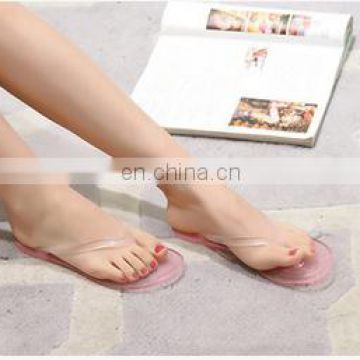 Best summer beach slipper Crystal candy color slipper for womem