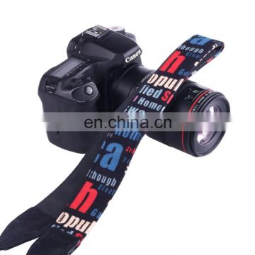 LYNCA LH-02 British Style Series Red Blue English Words Universal Genuine Leather Shoulder Neck Strap Camera Strap for Nikon