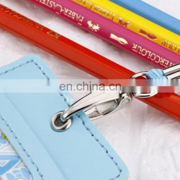 hot sale promotional gift office business work card high quality leather holder with sling