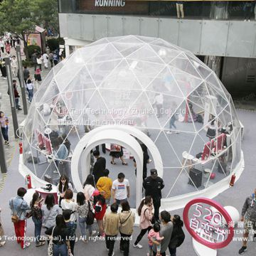 Liri Transparent Geo Dome for Branding Promotion