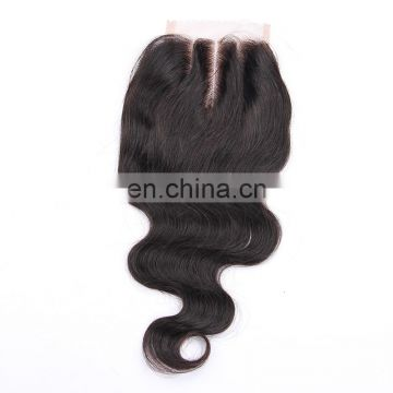 4x4 lace closure free/middle/3 way part body wave brazilian human hair weave bundles with closure