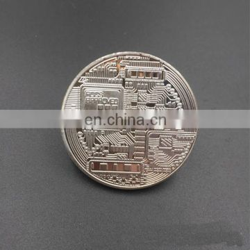 Cheap Wholesale Custom Metal Zinc Alloy Engraved Logo Gold Brass Plated Souvenir Commemorative Challenge Bitcoin Coin