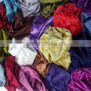 china factory fashion colors 100 polyester shiny velvet soft feeling tricot