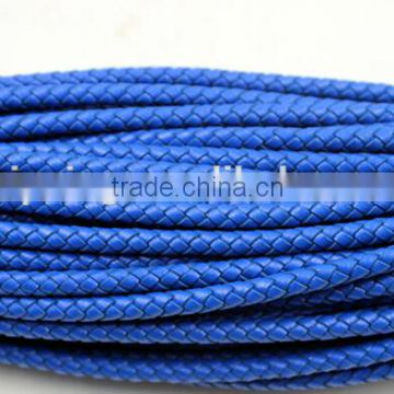 Braided Round Leather Cords 100% Bolo Braided Round Leather Cords|100% Genuine Leather 3mm Braided
