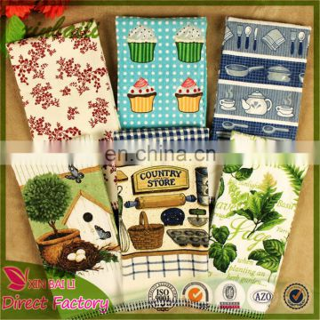 Professional Custom Printed 100% Cotton Kitchen Hand Towel