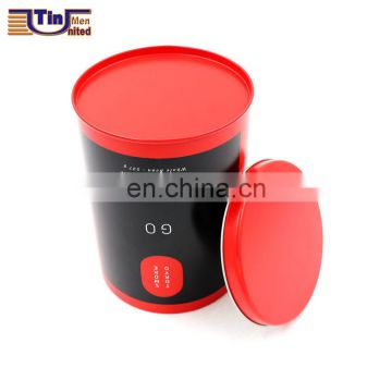 Small Round Metal Material Tea Tin Box