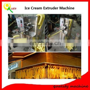 Automatic Hollow Tube Puffed Corn Snacks Food Extruder Machine / hollow Tube Ice Cream Extrusion