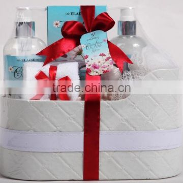 7 PCS BATH SET W/LEATHRER BOX