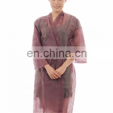 disposable kimono with short sleeves