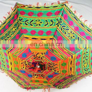 Colorful Handmade Design Rajasthani Umbrella Handicraft Umbrella