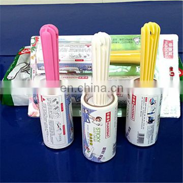 PE adhesive clothes dust remove sticker roller for house use