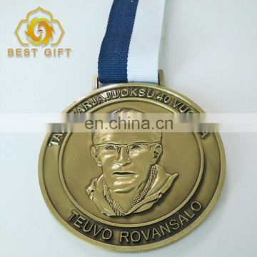 Craft Die casting 3D antique bronze metal Running sports medal