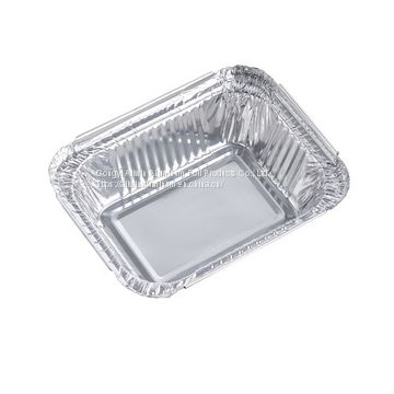 250ml rectangular aluminum foil food container