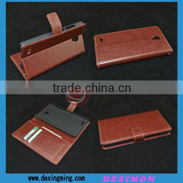 Wallet stand style leather flip cover for redmi note