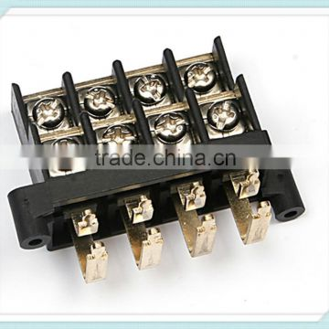 Gold Plated Brass Speaker Terminal Block KT4 300V 30A 11mm Pitch