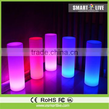 Night decoration LED light up cylinder