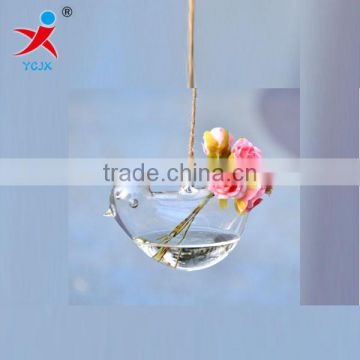 Creative hang transparent glass vase/Other copper grass plants hang bottle hydroponic flower pot
