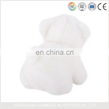 Custom made kids white plush mini teddy polar bear toys