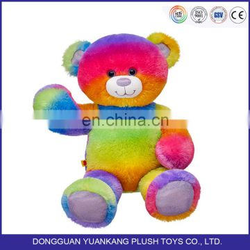 New Design Colorful Stuffed Plush Teddy Bear Soft for Kids Toys