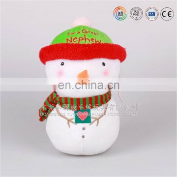High quality lovely snowman soft toy for 2017 Xmas gift