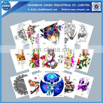 Promotional colorful hand temporary tattoo sticker