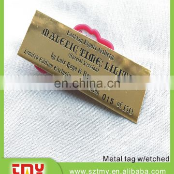 Custom aluminum metal luggage tag wholesale