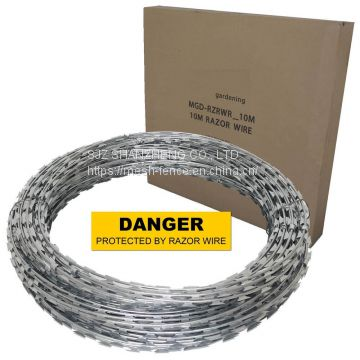 hot dipped galvanized razor barbed wire security fence wire