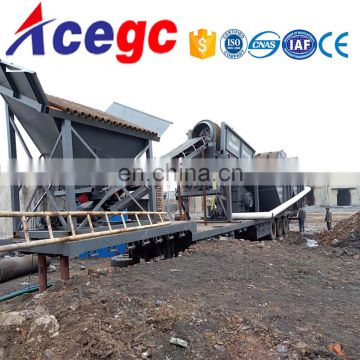 100-300tph mobile/movable/portable river / sea sand making machine price