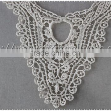 2016 new embroidered designs collar, machine made lace collars, off white cotton lace collar