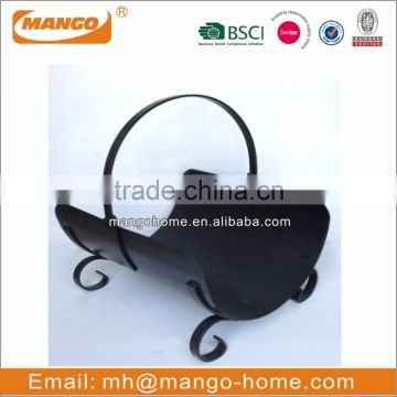 Hot Sale Modern Oval Stainless Steel fireplace Log Holder