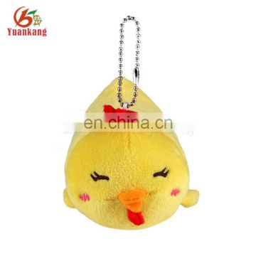 Custom new promotional soft plush yellow chicken keychain