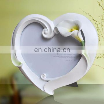 5x6 hotsale resin heart shape picture photo frame