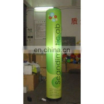 inflatable cylinder for display advertising with light bulb inside,size 2.3m tall