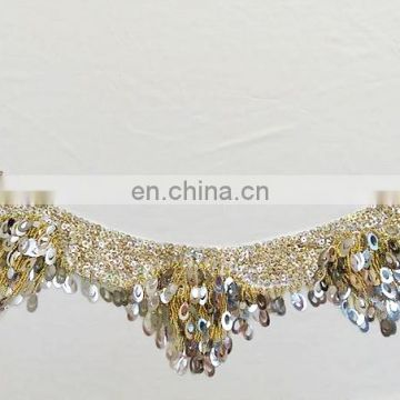 Y-2054 American hot sale full sequins belly dance hip scarf