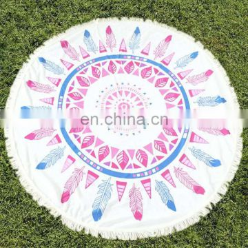 Fashional Customized Sublimation Printed design Microfiber round Beach Towel