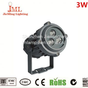 High power led waterproof spot light with 3W 6W 9w led flood light